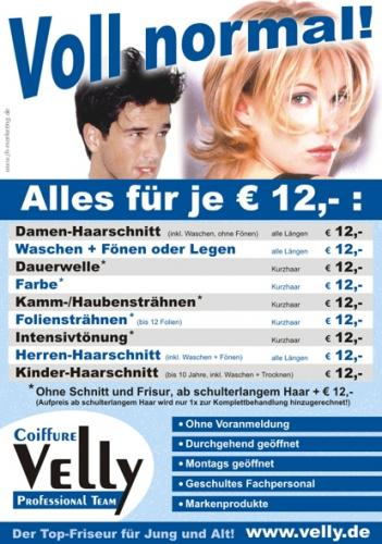 Friseur Coiffure Velly Professional Team in Ossweil Plakat